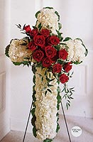 Cross Shaped Floral Arrangement