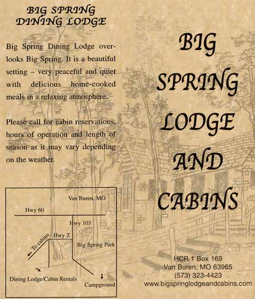 Our brochure - Cabin rentals
